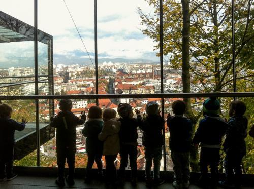 Modri pingvini na Ljubljanskem gradu